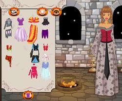 Barbie és kutyája hallowen öltöztetős