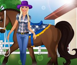 Barbie lovagolni meg