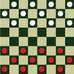 3 in 1 Checkers-táblás